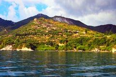 扎金索斯州,爱奥尼亚人希腊海岛 免版税库存图片