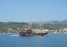 扎金索斯州海岛的巡航  库存照片