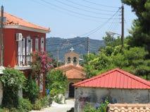 扎金索斯州的,希腊村庄 库存照片