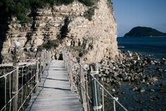 扎金索斯州,一座桥梁到海岛 库存图片