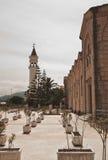 扎金索斯州Bochali地区的传统教会  免版税库存照片