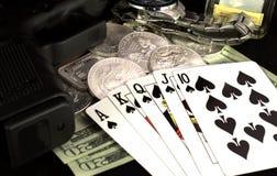 扑克牌游戏 免版税库存照片