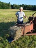 打包农夫干草做 库存照片