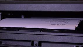 打印机打印本文 4K 股票录像