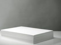 打印机栈白色 库存图片