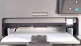 打印机的进纸盒 影视素材