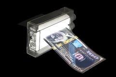 打印机金钱机器打印伪造品美元 库存照片