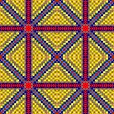 打印的无缝的阿兹台克样式在纸或织品 墨西哥主题 库存图片
