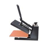 打印的设备在织品 图库摄影