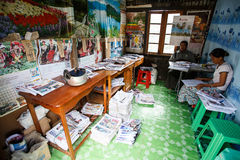打印纸工厂在Falam,缅甸(缅甸) 免版税库存图片