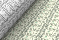 打印美元钞票 免版税图库摄影
