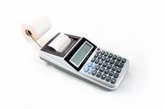 打印计算器 免版税库存图片