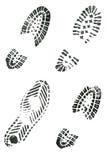 打印鞋子 免版税库存照片