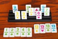 打在古怪的比赛-跑和小组卡片 免版税库存图片