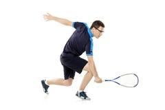 打墙网球的球员 库存图片