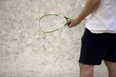 打墙网球 免版税库存图片