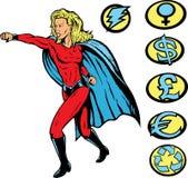 打孔机超级英雄 免版税库存图片