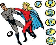 打孔机超级英雄 库存照片