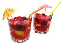 打孔机鸡尾酒饮料用果子 免版税图库摄影