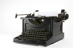 打字机万维网 图库摄影