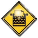 打字机和文字corse 库存图片