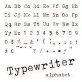 打字机字母表 库存照片