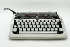 打字机机器的正面图 免版税库存照片