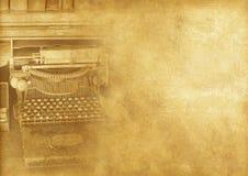 打字机机器葡萄酒 免版税库存照片