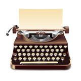 打字机现实例证 免版税图库摄影