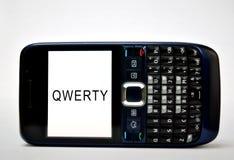 打字机键盘的移动电话 图库摄影