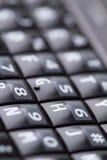 打字机键盘移动电话的键盘 免版税库存图片