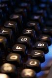 打字机键盘  免版税图库摄影