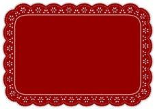 打小孔鞋带席子安排红色 库存例证