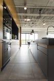 打开一个工业样式的厨房 库存照片