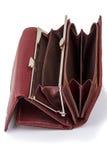 打开一个空的钱包 免版税库存图片