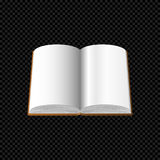 打开与在透明背景隔绝的空白页的书 免版税库存照片