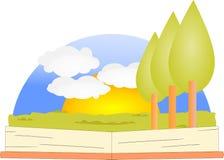 打开与美好的自然的书 库存图片