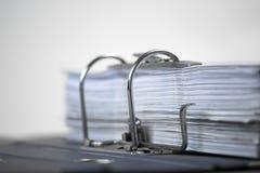 打开与被归档的文件的文件夹 免版税库存照片