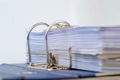 打开与被归档的文件的文件夹 免版税图库摄影