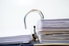 打开与被归档的文件的文件夹 库存图片