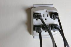 打开交流电能出口 免版税库存图片