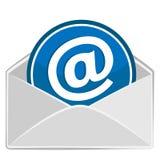 打开信封。给设计发电子邮件 库存图片