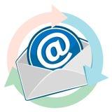 打开信封。给设计发电子邮件 免版税库存图片