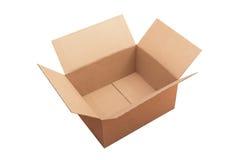 打开包裹纸板箱 库存图片