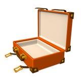 打开古典行李 免版税库存图片