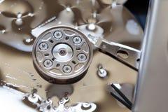 打开和打破硬盘 库存图片