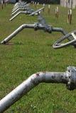 打开和结束对energ的生产的气体流程的阀门 免版税库存照片