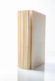 打开在白色背景隔绝的书 免版税图库摄影