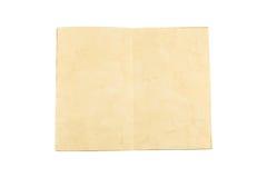 打开在白色背景隔绝的老葡萄酒书 免版税图库摄影
