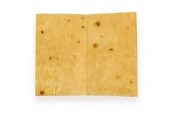 打开在白色背景隔绝的老葡萄酒书 免版税库存照片